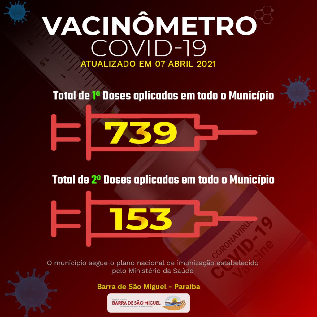 Barra de São Miguel inicia vacinação para idosos de 60 a 64 anos