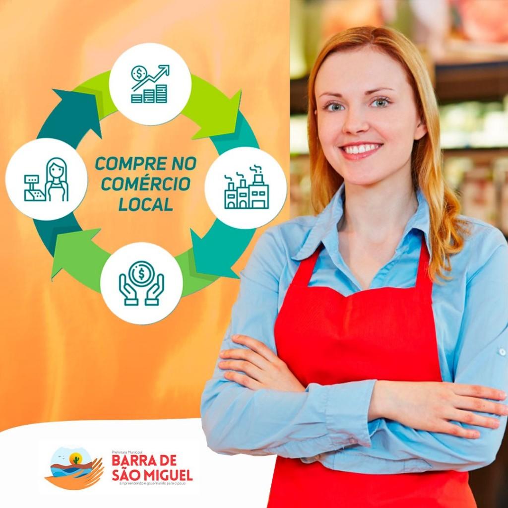 Compre no Comércio Local, valorize sua cidade