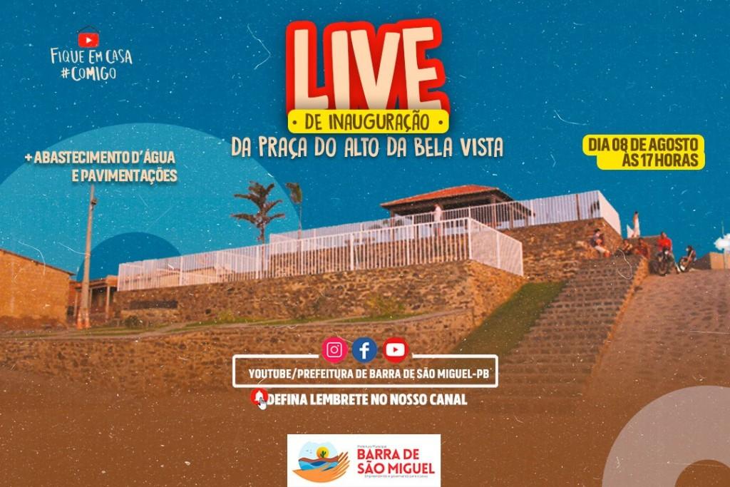 Recursos Próprios: Prefeitura de Barra de São Miguel inaugura Praça do Alto da Bela Vista no próximo sábado
